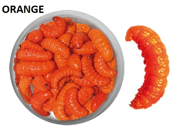 35 Count Preserved Wax Worms - Orange